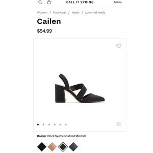 NEW Black Call It Spring Heels